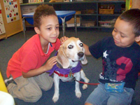 private special education school nj - Mount Carmel Guild School and Preschool - students with Therapy Dog