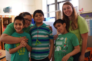 Phoenix Center students with teachers - private special education school Nutley NJ