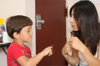 private special education school nj - Therapeutic School student and teacher