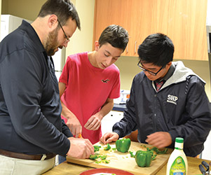 private special education school nj - students in transition kitchen class at The Children's Institute High School